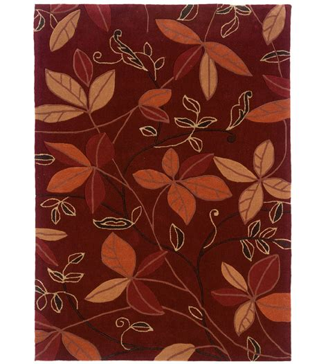 Patterned Area Rugs by 5 X 7 Trio Collection Leaf Area Rug In Patterned Rugs