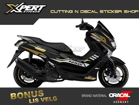 Nmax 2018 Warna Hitam by Stiker Nmax Gold Cutting Sticker Nmax Hitam 2018 Harga