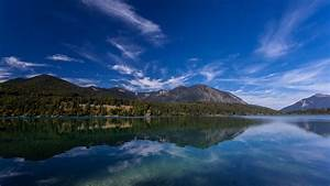 Lake, Walchensee, Alps, Bavaria, Germany, Mountain, With
