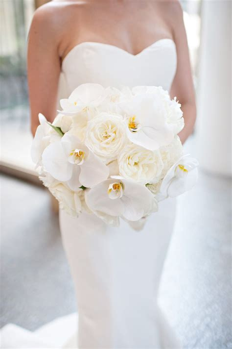 orchid and peony bouquet cascading bouquet white bouquet