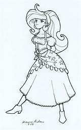 Gypsy Attitude Deviantart Coloring Line Sketch Template sketch template