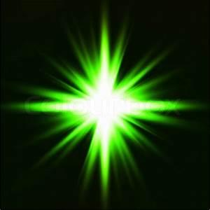 Star burst green on black background | Stock Vector ...