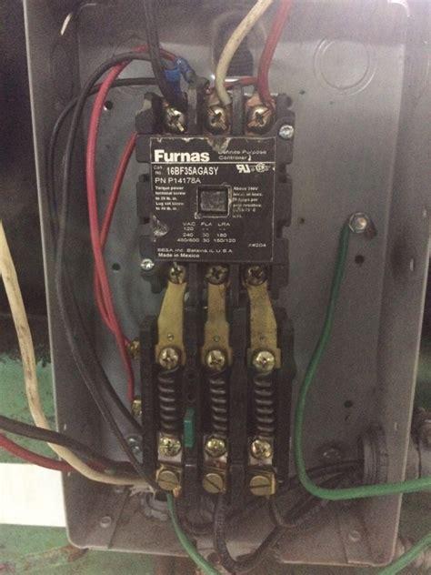 speedaire compressor contactor problem