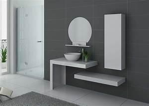 Aérateur Salle De Bain : meuble de salle de bain blanc laqu monza meuble de salle ~ Dailycaller-alerts.com Idées de Décoration