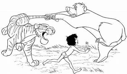 Jungle Coloring Mowgli Colorare Disney Giungla Libro