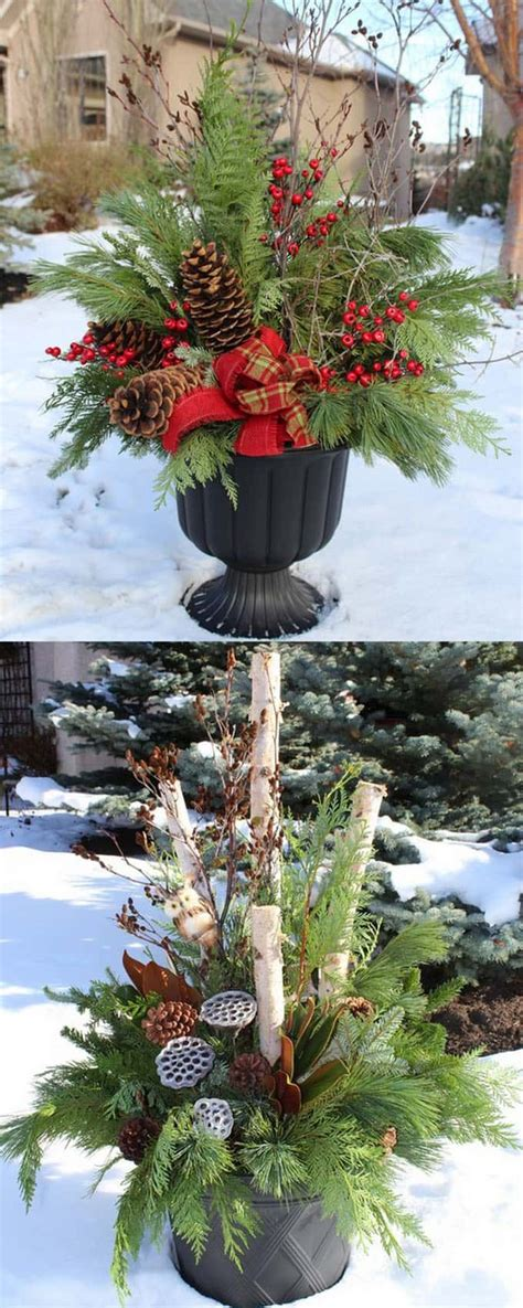Outdoor Planters by 24 Colorful Winter Planters Outdoor