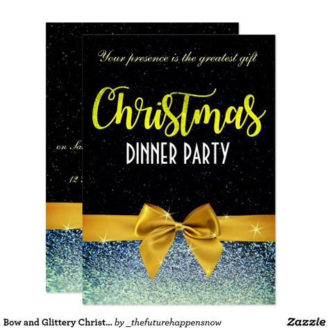 pin  sylvie  beautiful christmas dinner invitations