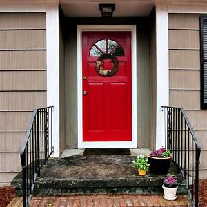 Red Front Door to Boost Positive Energy of Your House