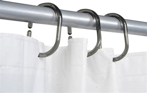 shower curtain rings set of 12 plastic hooks clear gray
