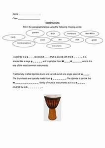 Djembe Drumming Worksheet And Picture To Colour By Miss Flump