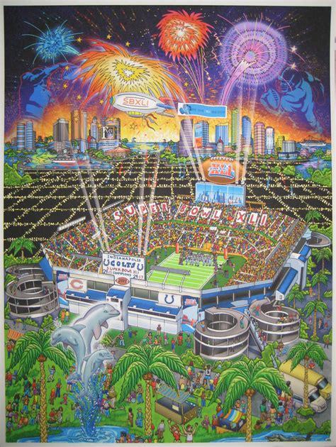Charles Fazzino Super Bowl Xli Miami Ind Chi