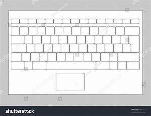 Laptop blank keyboard layout computer input stock vector for Blank keyboard template printable