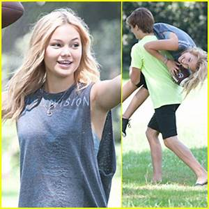 Olivia Holt's Brother Cade Carries Her Away After Playing ...