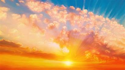 Sunset Painting Sky Wallpapers 4000 2250 4k