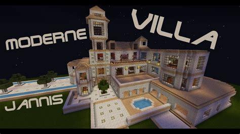 Minecraft Moderne Häuser Jannis Gerzen by Minecraft Moderne Villa Mit Redstone Inhalten Und Aufzug