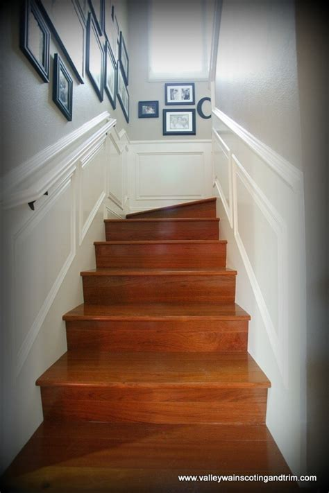 raised panel wainscoting   stairs wainscoting