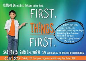 First Things First – A children's ministry training day ...