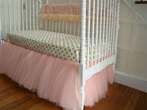 gold crib skirt pink and gold tulle crib bedding pink tulle baby