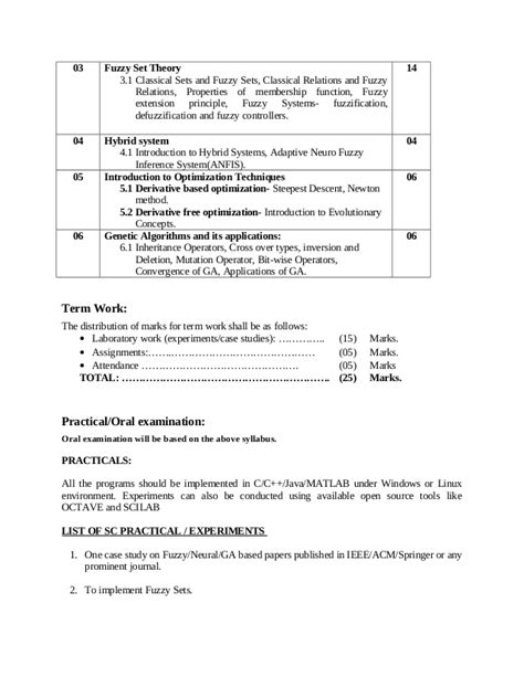 Syllabus for fourth year of engineering