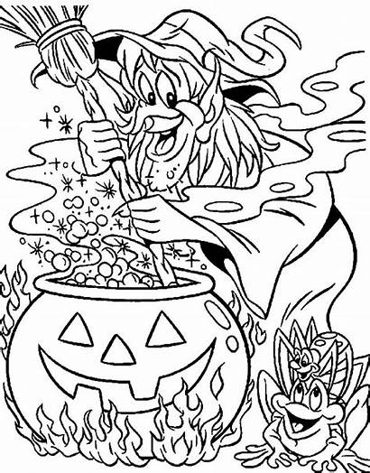 Witch Coloring Pages Sheet Place