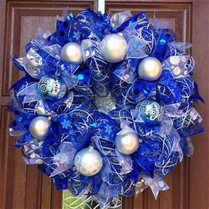 Shop Blue And Silver Christmas Decorations on Wanelo