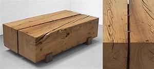 Table Basse Bois Brut : table en bois massif fait main uhuru ~ Melissatoandfro.com Idées de Décoration