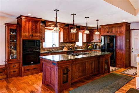 arts and crafts style kitchen cabinets arts crafts masterpiece dovetail kitchen design st joseph mn 9043