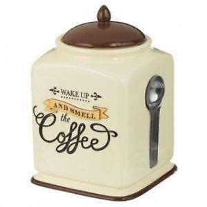 coffee themed kitchen canisters ceramic canisters ebay