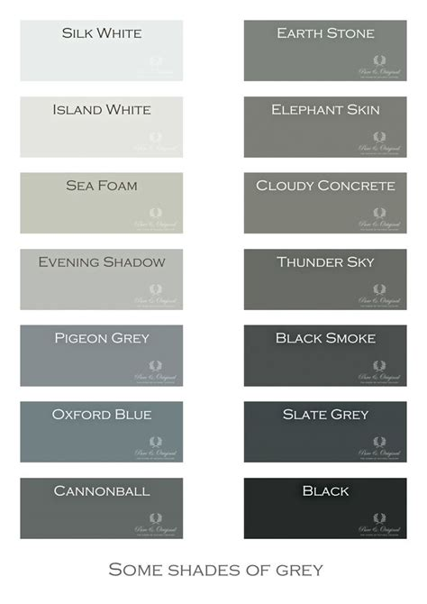 Shades Of Grey Chalk Paint, Lime Paint, Floor Paint And
