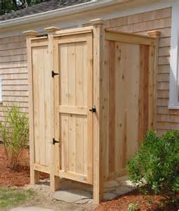 Prefab Outdoor Shower Enclosures by Outdoor Showers Enclosures Cedar Pvc Cape Cod Shower