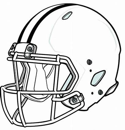Coloring Pages Football Helmet College Printable Nfl