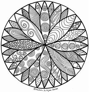 Schnes Doodle Mandala Fr Kinder Ausdrucken MandalaMalspiel