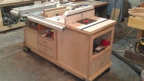 Cabinet Table Saw Uk by Wood Magazine Table Saw Cabinet Make A Featherboard