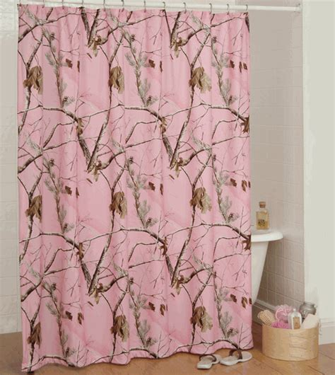 pink camo bathroom decor realtree ap pink shower curtain