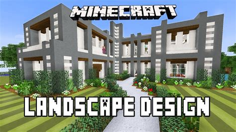 landscape design tutorial minecraft tutorial modern garden landscape design ideas modern house minecraft builds