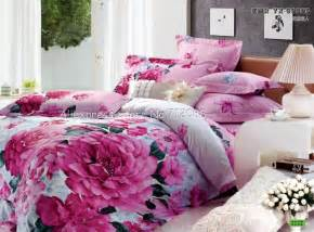 new roseo flower floral pattern pink queen full size bed