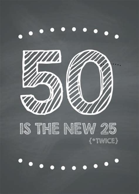 Funny 50th Birthday Card  50 Is The New 25 (twice