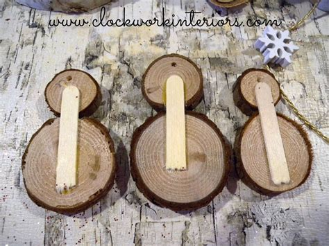how to make wooden ornaments how to make wood slice snowmen ornaments wood slices snowman ornaments and snowman