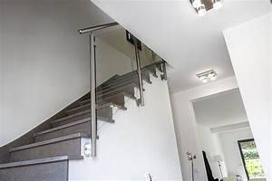 Garde De Corps Escalier : rambarde et rampe d 39 escalier en inox sur mesure ~ Melissatoandfro.com Idées de Décoration