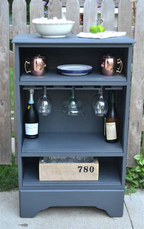 how to make a dresser how to build a bar out of a dresser to serve drinks at