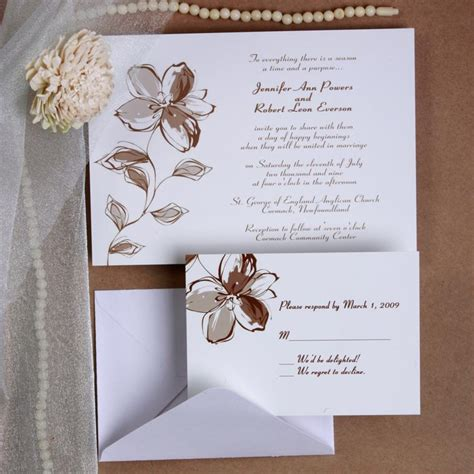 wedding invitations with pictures printable floral wedding invites ewi179 as low as 0 94