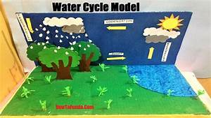 Water Cycle Project 3d Model For School Science Exhibition