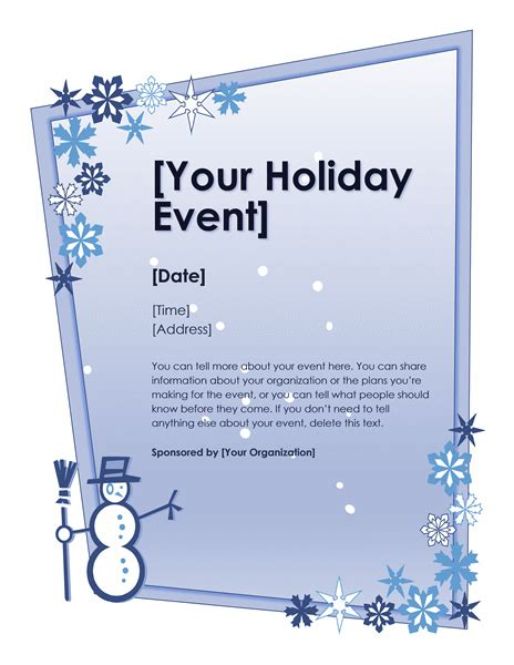 Download Winter holiday event flyer Free Flyer Templates ...