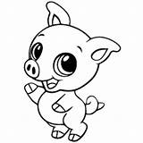 Coloring Pages Pig Printable Baby Animals Pigs Cute Colouring Animal Sheets Cartoon Drawings Funny Rock Star Momjunction Domestic Pot Creature sketch template