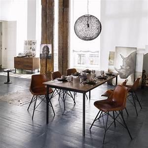 Maison Du Monde Essen : stuhl im industrial stil aus leder braun styleguide home st hle esszimmer und vintage st hle ~ Buech-reservation.com Haus und Dekorationen