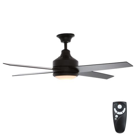 matte black ceiling fan with light hton bay mercer 52 in indoor matte black ceiling fan