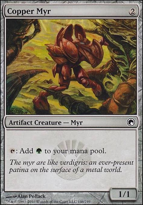 myr commander deck mtg copper myr mtg card