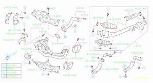 2016 Subaru Brz Catalytic Converter Gasket  Rear   Exhaust