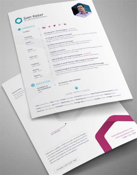 resume format template cv indesign