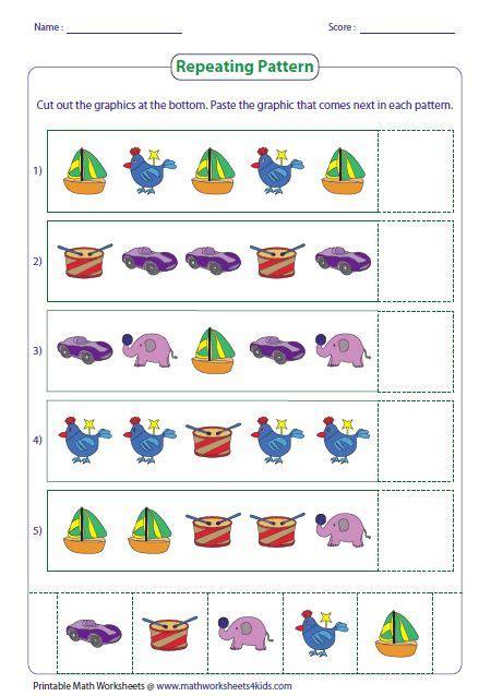 pattern worksheets pattern worksheet math patterns